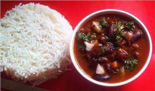 Rajma Curry with Rice